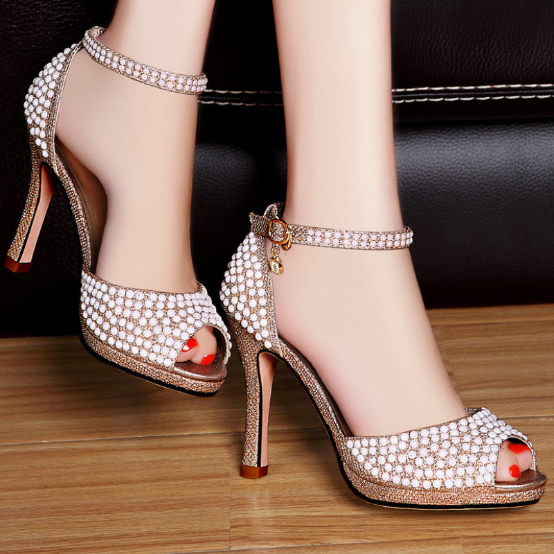 pearl shoes noble fashion shoes high heel shoes