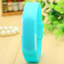 Touch Screen Square Silicone Digital Watches relojes mujer digitales Sport Waterproof LED Watch13 Candy Color BW