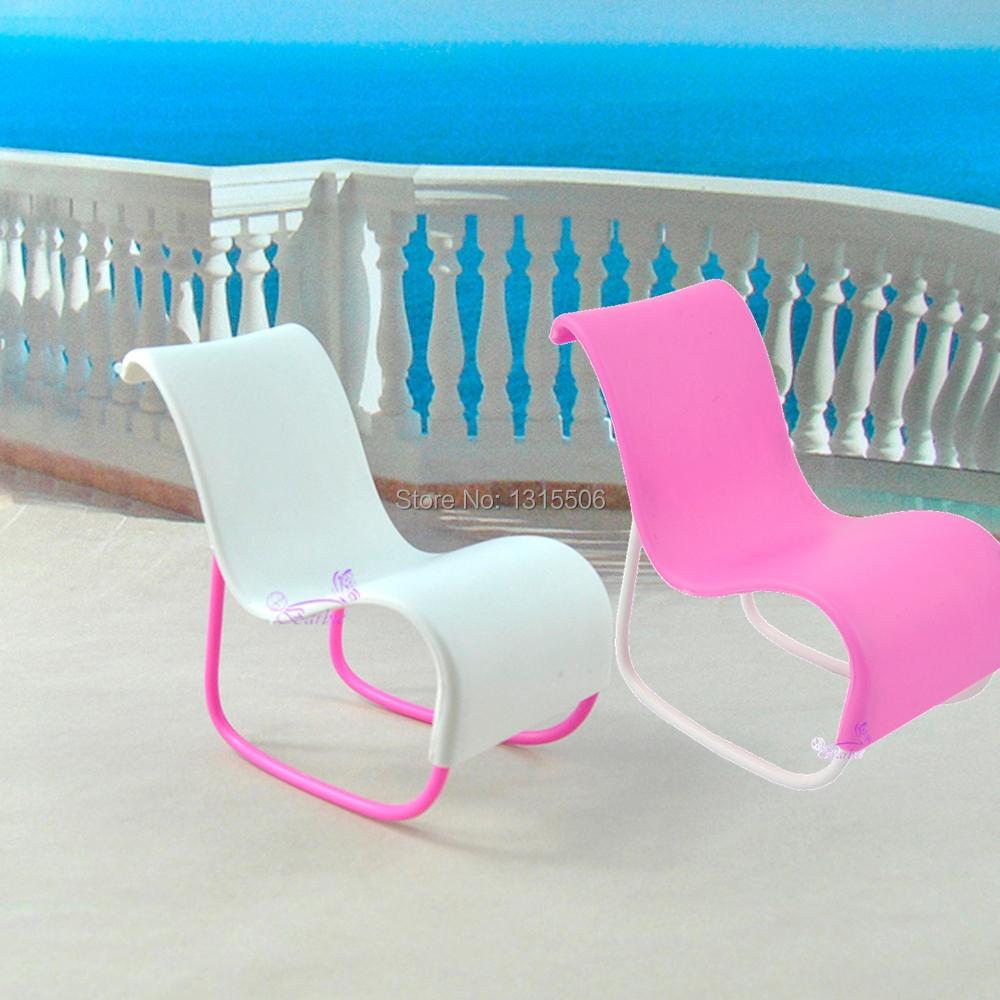 Plastic chairs wholesale cute beach chair deck chair for barbie dolls