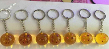 7pcs/1set dragon balls z Anime Toys Action Figure 7 ball keychains Movie&TV Juguetes Brinquedos Toys For Children