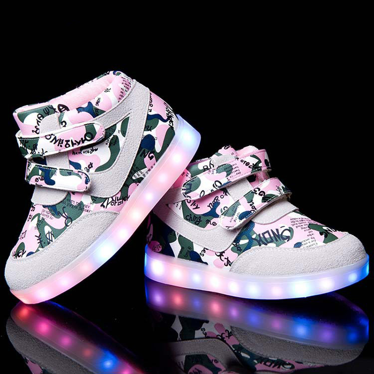 2016 Children USB Charging Sneakers Light Brand New Kids Led Flashing Casual Shoes Boys Girls Luminous 0031 - Allin Store store