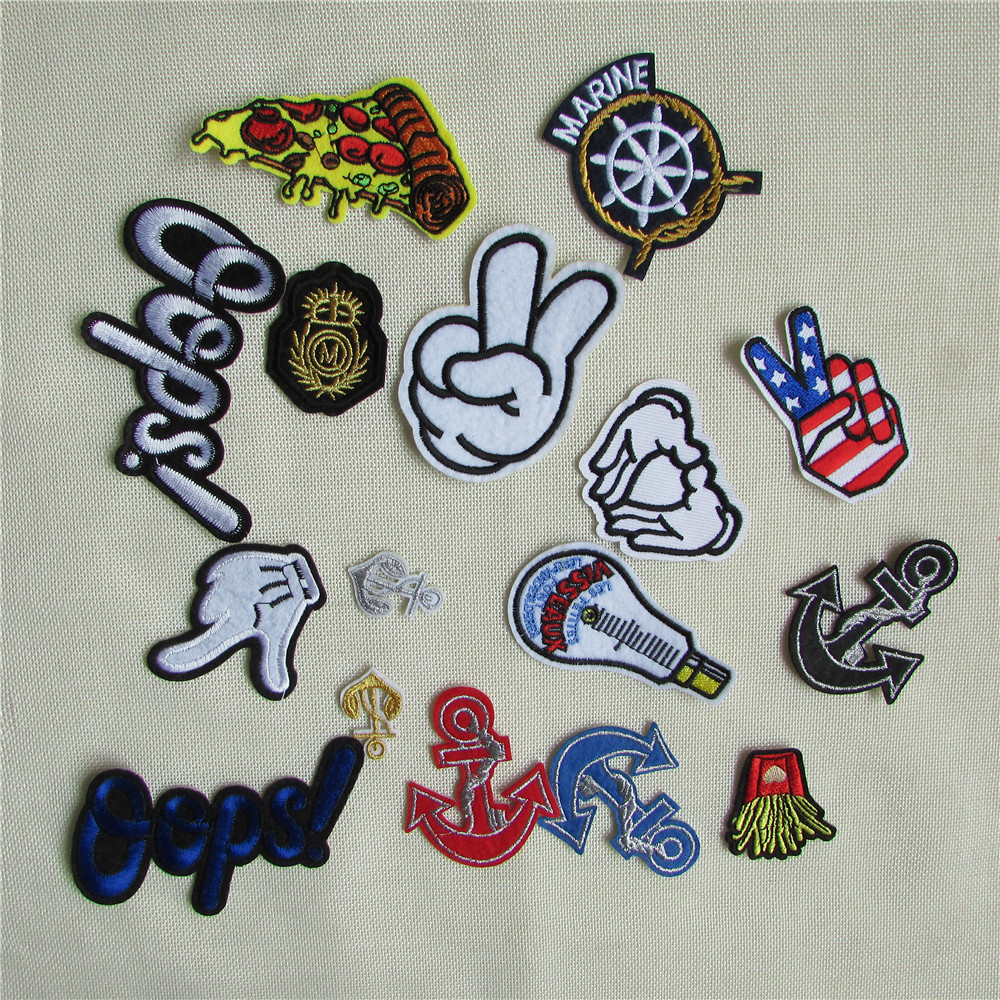 high quality mixture sell patch hot melt adhesive applique embroidery patch DIY clothing accessory patch 1pcs sell(China (Mainland))