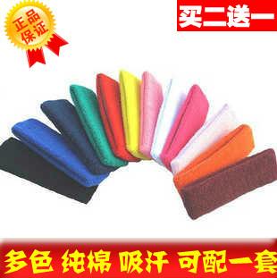Sports headband tennis ball badminton basketball 100% cotton sweat absorbing ribbon customize pattern adult headband(China (Mainland))