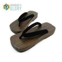 2015 summer  Japanese geta wooden slippers SAMURAI Clogs Cosplay male bench geta sandals Flat Heel Cosplay Slippers/Flip Flops