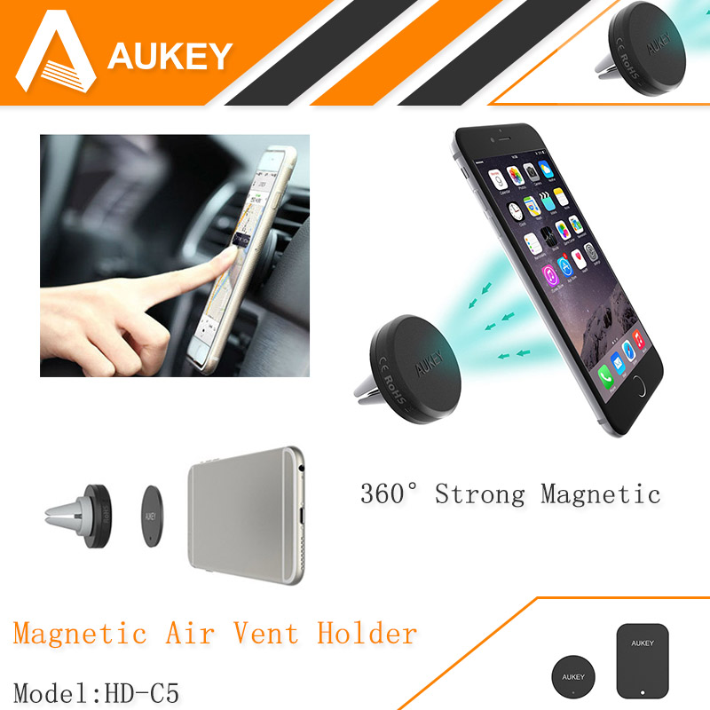 AUKEY 360 Degree Universal Car Holder Magnetic Air Vent Mount Smartphone Dock Mobile Phone Holder , Cell Phone Holder Stands(China (Mainland))