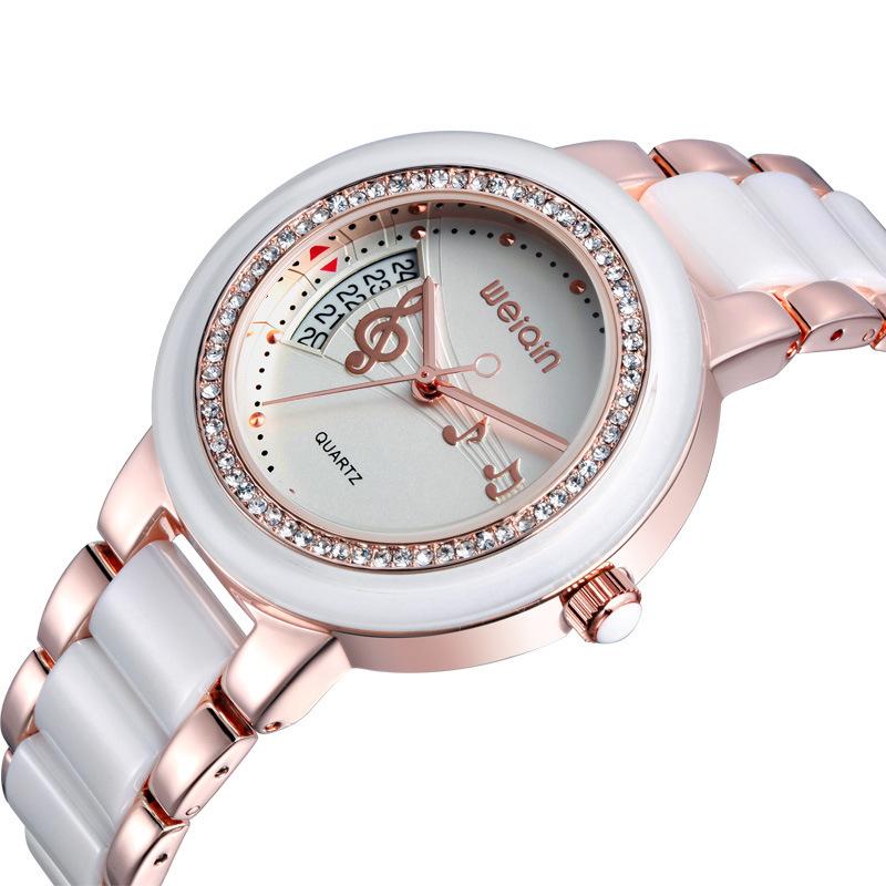 WEIQIN Brand Luxury Ceramic Watches Genuine Ceramic Watch New Design Fashion Watch Women Wristwatch 2014 Lady Watch(China (Mainland))