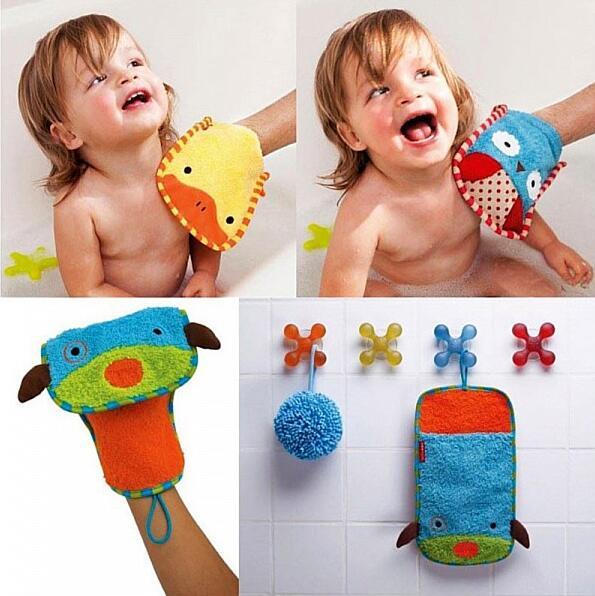 New Massage Wash Skin Spa children cartoon Bath Gloves gentle skin cleanser Cotton(China (Mainland))