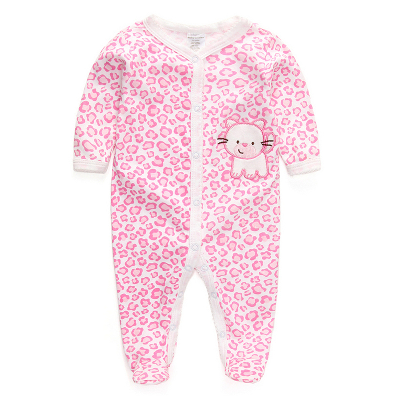 100% Cotton Baby Rompers Wear Jumpsuits Kids New Born Baby ...