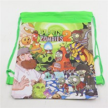 Buy 10pc/lot Kids Favors Drawstring Bags Non-Woven Fabric Plants vs Zombies Backpack Baby Shower Birthday Party Decoration Supplies for $8.33 in AliExpress store