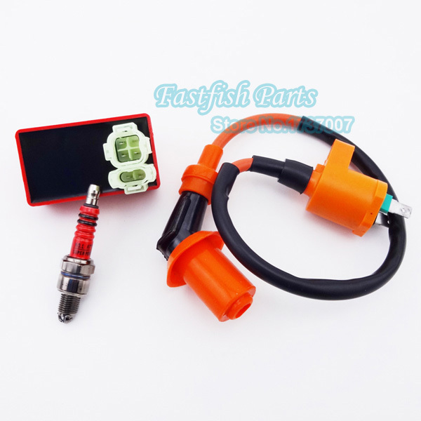 Racing Ignition Coil & 6 pin AC CDI & Spark Plug A7TC For GY6 50cc 125cc 150cc Moped Scooter Bike Parts Motorcycle(China (Mainland))