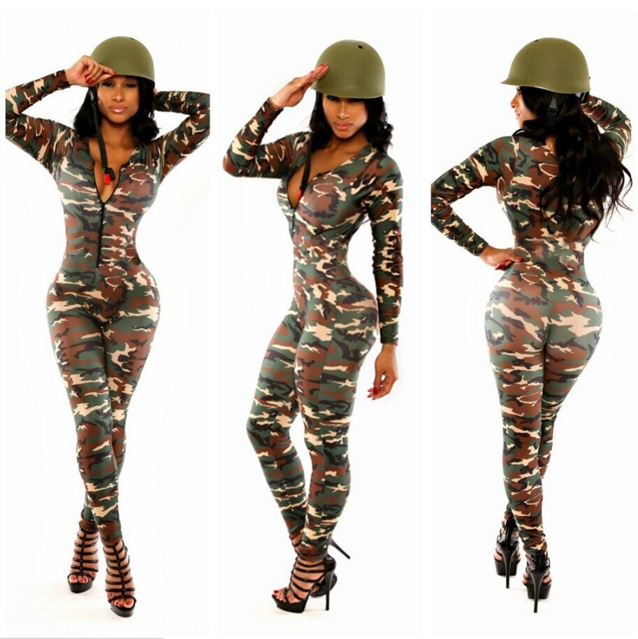 Popular Green Spandex Jumpsuit Women-Buy Cheap Green Spandex ...