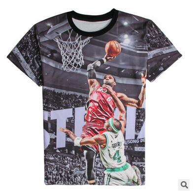 2016 newest 3d t shirt basketball stars lebron james
