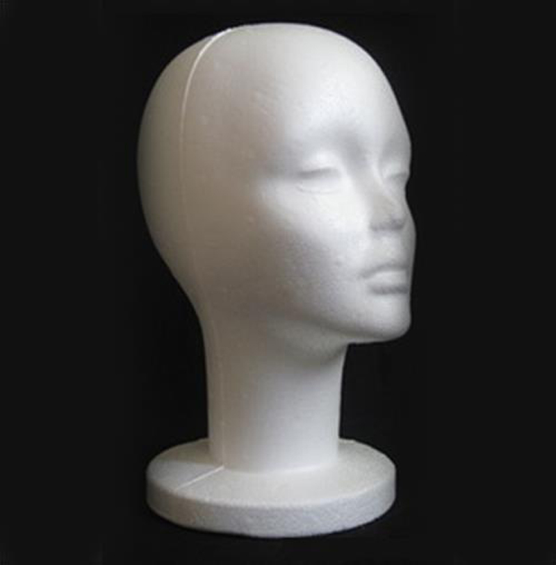 53cm Female Foam Head And Stand Display Mannequins Model for Wig hair Hat Head Mould(China (Mainland))