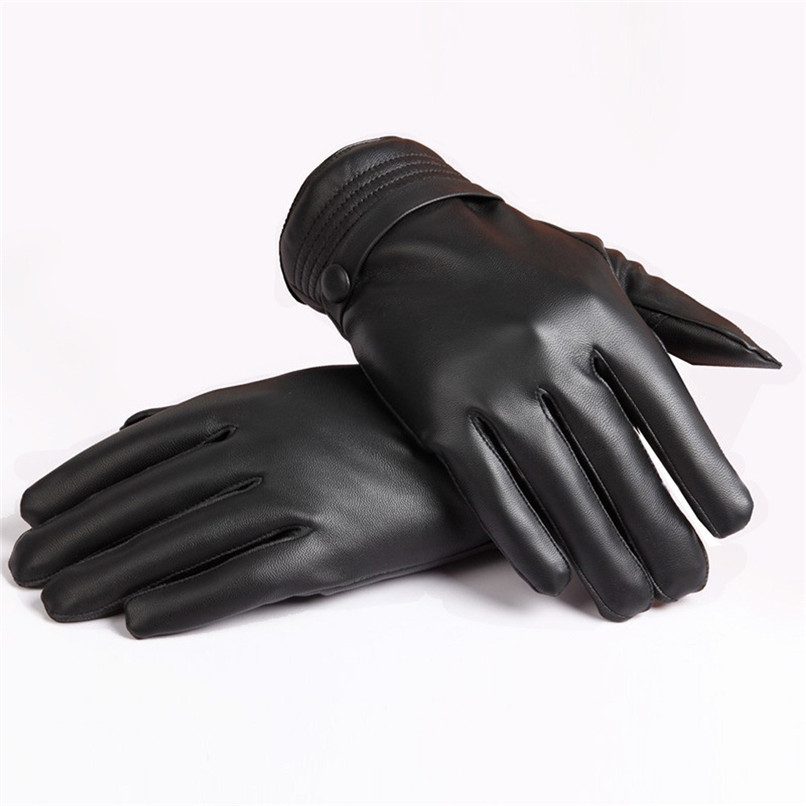 Sanwony New Gloves Men Luxurious Leather Winter Warm Touch Screen Cashmere Mitten(China (Mainland))