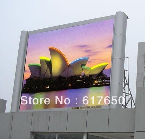 0.96m x 0.96m Wholesale Full Color with Common Cabinet P10 Outdoor LED Display Screen(China (Mainland))
