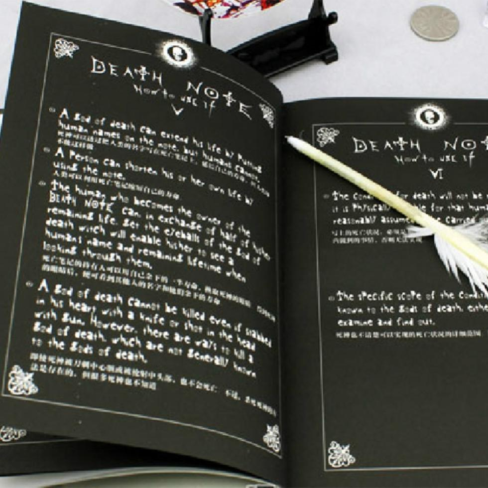 Hot Sale Death Note Notebook & Feather Pen Book Japan Anime Writing Journal New Free Shipping(China (Mainland))