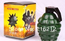 Grenade shape mugs with LED light on the cap, American MK2 Grenade shape coffee cup(China (Mainland))