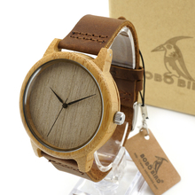 2016 New Wooden Watch Luxury Brand Round Wood Case Elegant Men Quartz Wrist Gift Dress Men's Leather Strap Watches