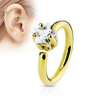 TTLIFE модное Кристальное носовое кольцо Винтажное кольцо из нержавеющей стали со стразами кольцо в нос серьги для женщин Femme ювелирные издели...(China)