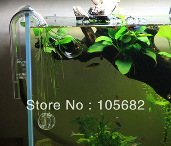 Filter for aquarium  Poppy Glass pipe outflow 13mm 45-60cm aquariums & accessories Wholesale free shipping