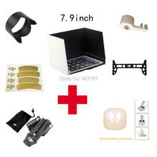 Free Shipping DJI Phantom 3 Professional&Advanced Sunshade+Transmitter Protection Cover+Lens Hood+Cap+Sticker+Neck+Gimbal Guard