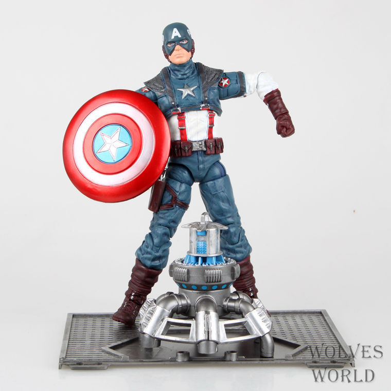 Marvel Captain America Civil War Avengers Super Heroes PVC 19cm Action Figure Collection Model Toys T470(China (Mainland))