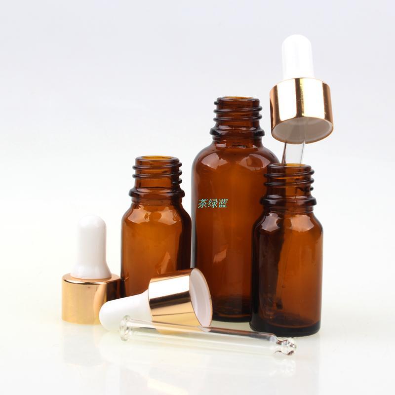 30ml tawers glass essential oil bottle pinpet belt dropping bottle sub-bottling lotion bottle brown color bottle(China (Mainland))