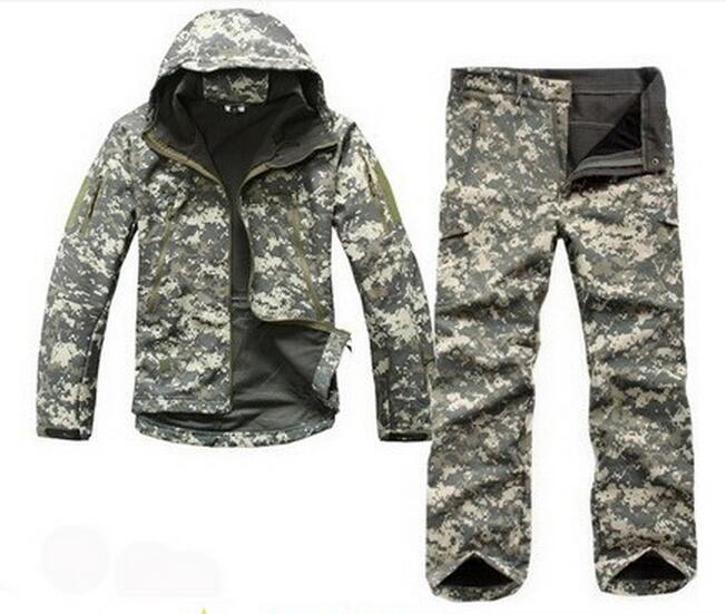 Lurker Shark Skin Soft Shell Suit 2016 New TAD V 4.0 Outdoor Military Tactical Jacket Waterproof Windproof Sports Army Clothing(China (Mainland))