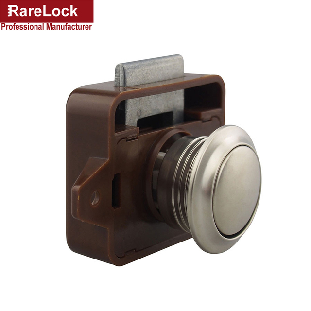 Rarelock 5pcs Lot Abs Push Button Catch Locks Cupboard