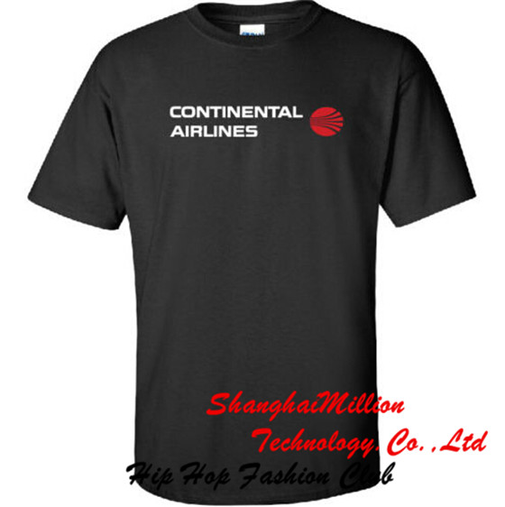 Unisex Continental Airlines Retro Logo '69-'91 US Airline T-Shirt(China (Mainland))
