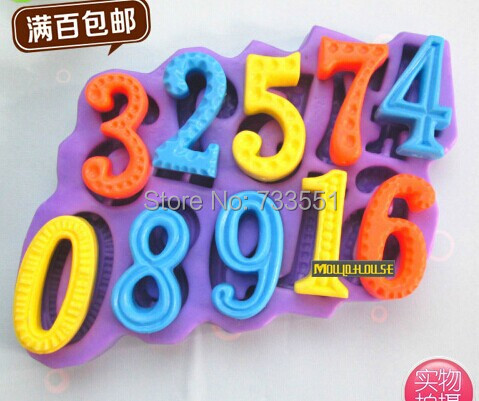 Wholesale Silicone Fondant Cake Soap Mould Number sign shaped Molds Sugar Craft Chocolate Mold Cooking Tools Polymer Clay Crafts(China (Mainland))