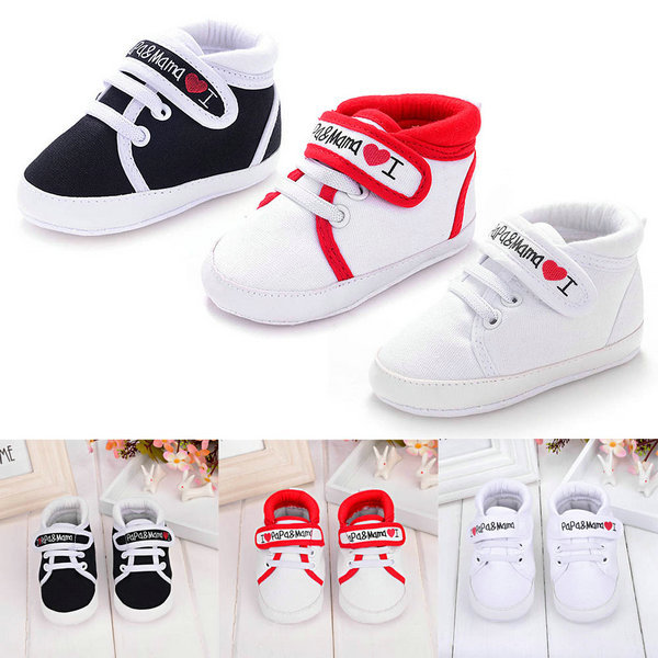 New Cute Heart-shaped I Love Mum And Dad Lovely Baby Shoes Girl Soft Bottom Footwear Newborn Baby Shoes