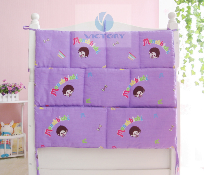2014 New Arrival Kawaii Cute Cots Storage Pockets,Good Quality Cheap Price Baby Crib Accessories,Cover+Filler,9 Piece Pockets(China (Mainland))