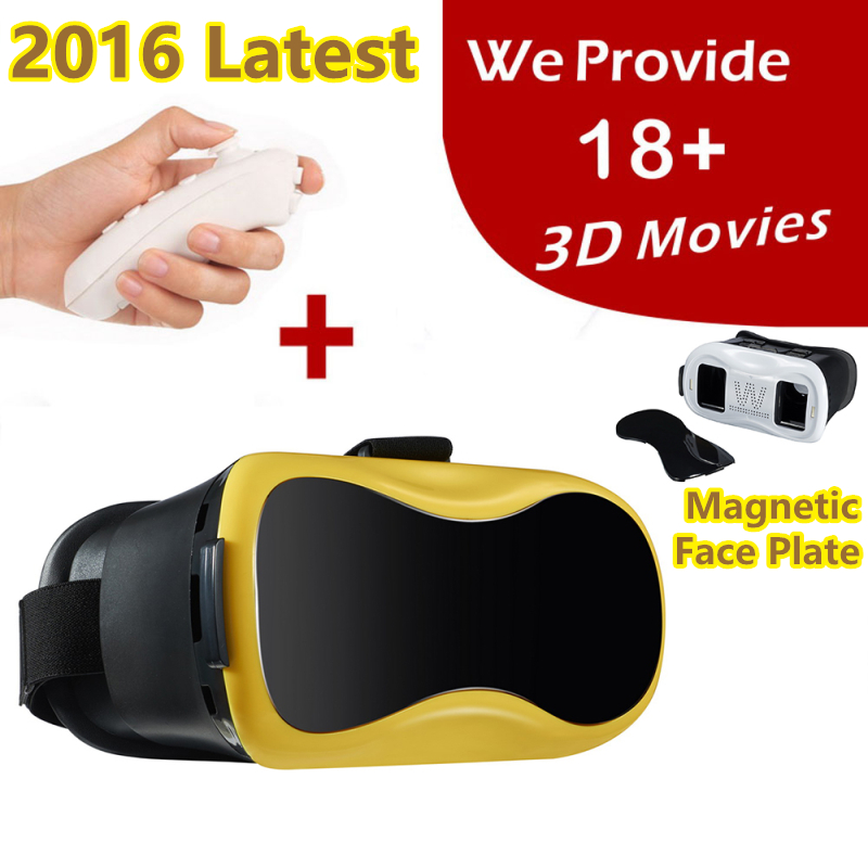 "2016 Latest VR Box Virtual Reality Glasses 3D Google Cardboard For iPhone Samsung 3.5""- 6.0"" Smart Phone VR Box 2.0(China (Mainland))"