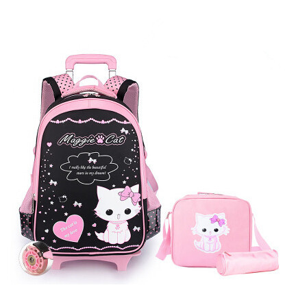 2015 new hello kitty children school bags primary backpack mochila infantil trolley backpacks black powder &88181 - Top Selling Best Store store