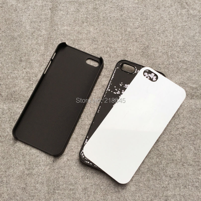 20pcs* DIY Rubber Case For iPhone 5 Sublimation Printing 2D Plastic Hard Rubber Oil Coated Glue+Metal Sheet Insert(China (Mainland))