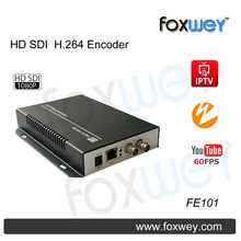 Quality 1080P 60fps HD SDI encoder H264 encoding,rtmp wowza support for IPTV solution live stream , webcasting, broadcast