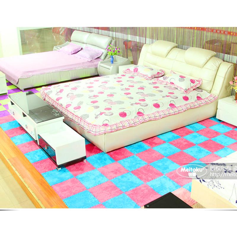 2016 NEW Hot Selling 9pcs/lot Shaggy Puzzle Carpet Baby Play Mat Floor Puzzle Mat EVA Children Foam Carpet Foam Puzzle Floor Mat(China (Mainland))