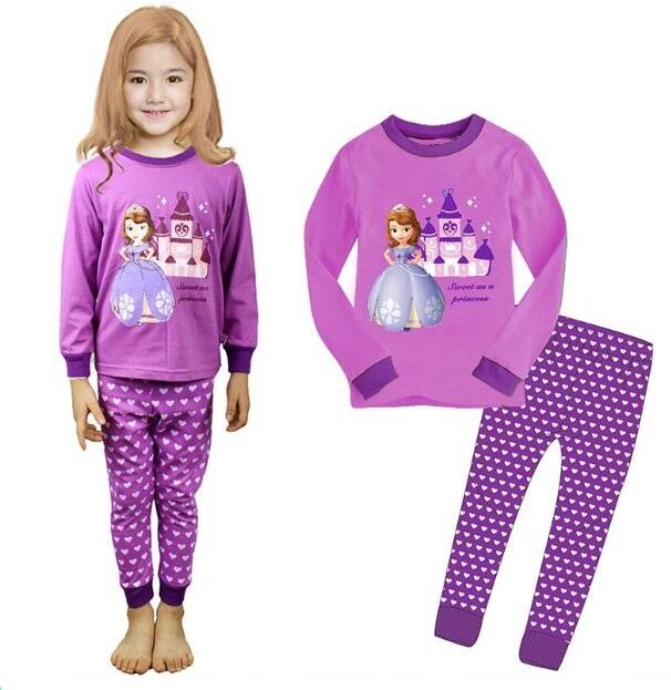 Children Pajama Sets Cartoon Kids Pijamas Set 2-7 Years Boys Sleepwear Girls Pyjamas Minion Pyjamas Clothes For Baby Boys/Girls(China (Mainland))