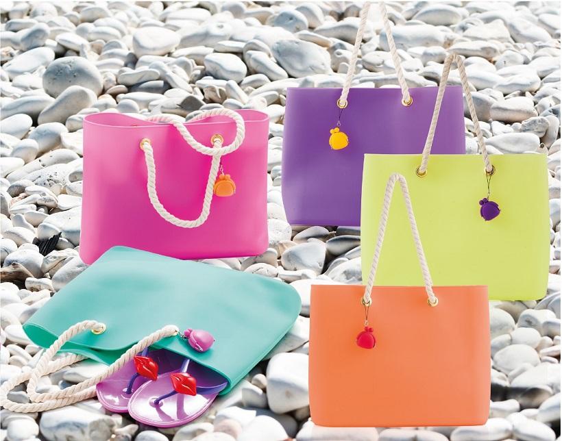 Silica Gel Candy Jelly Bag Women Rubber Handbag Casual Tote Silicone Beach Bag free shipment(China (Mainland))