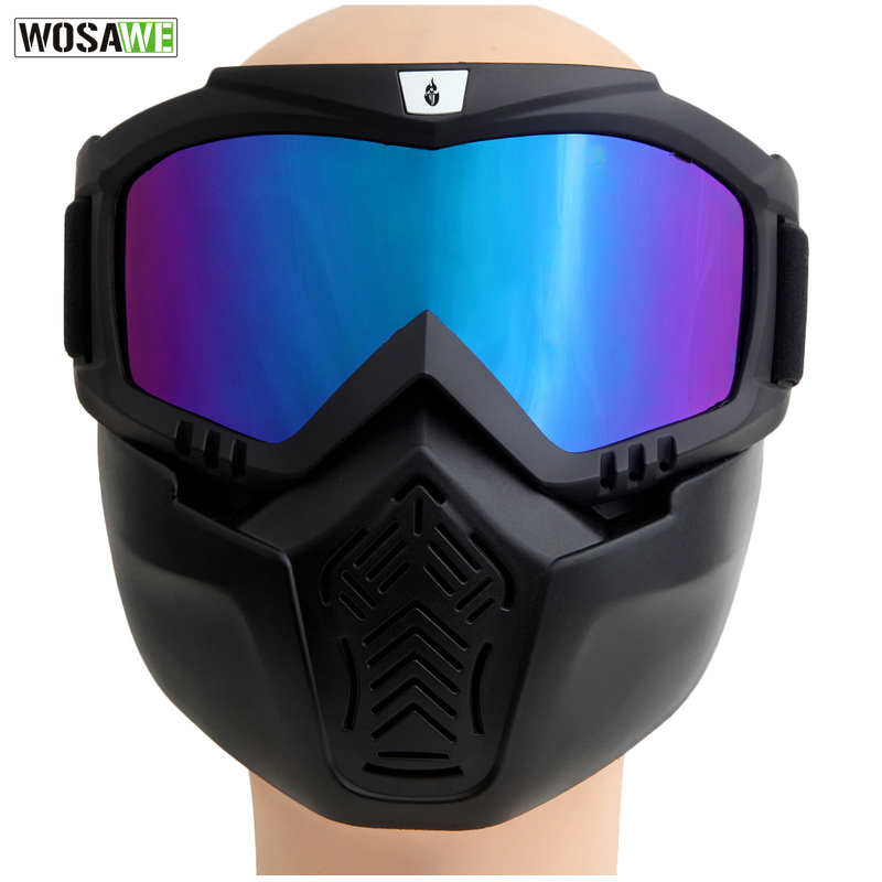 WOLFBIKE New Men Women Windproof Snowboard Goggles Ski Glasses Motocross Glass with Face Mask Protection Gear*(China (Mainland))