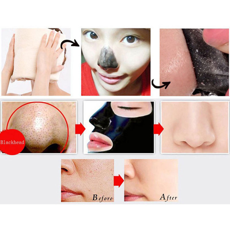 10pcs Face Skin Care Suction Nose Blackhead Cleanser Remover Acne Treatment Masks Peeling Peel off Black Head Mud Face Mask(China (Mainland))