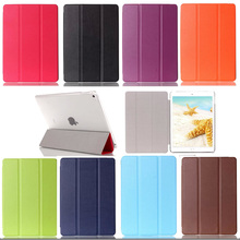 Ultra Thin Slim Light Three Fold Stand pu Leather case cover for apple iPad mini 4 Protector Skin Tablet Accessories S4C28D(China (Mainland))