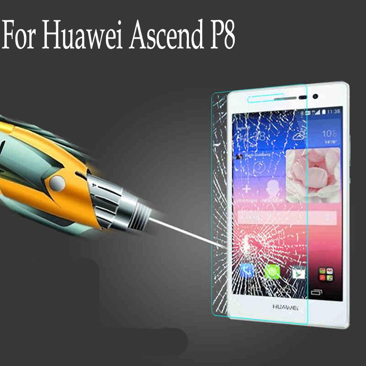 Hot 0.2mm 9H+ For Huawei Ascend P8 Screen Protector GLAS.t NANO SLIM Tempered glass Protective film(China (Mainland))
