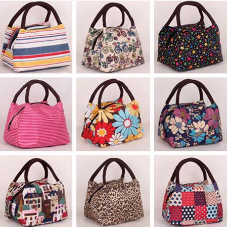 2015 New Arrive Canvas Printing Fashion Women Bags Wholesale Handbag Summer Mini Beach Bags Lunch Bag(China (Mainland))