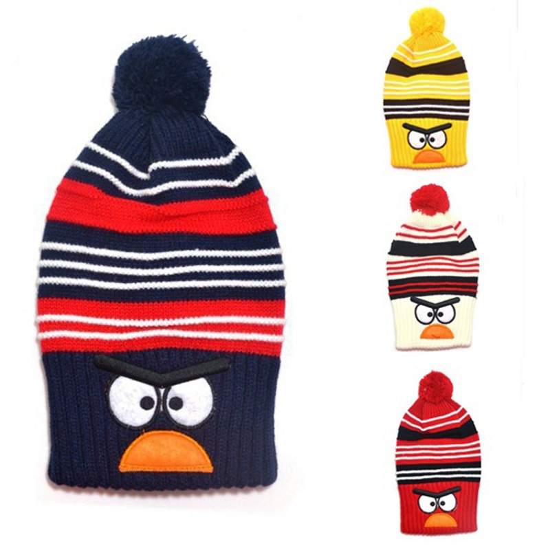 New Fashion Child winter knitted hat Bird design Boys girls Warm cap Kids animal hats Lovely benaies 1pc H526(China (Mainland))