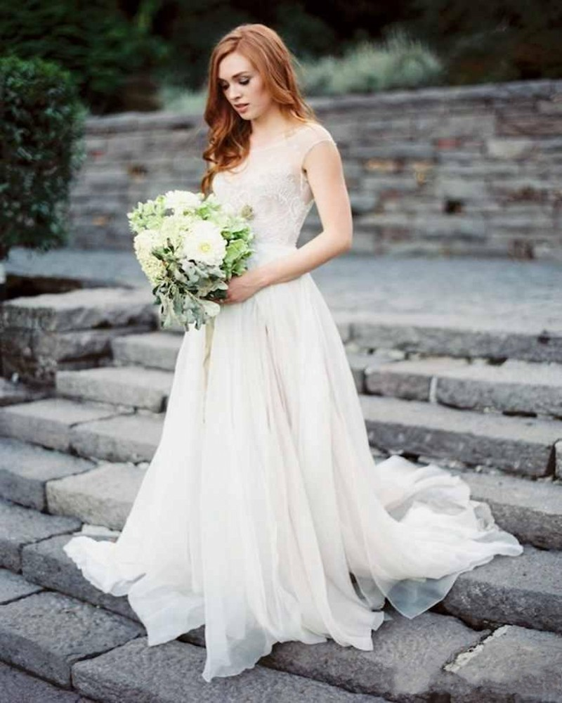 2016 paolo wedding dress marine style amazing a line sheer for Marine wedding bridesmaid dresses