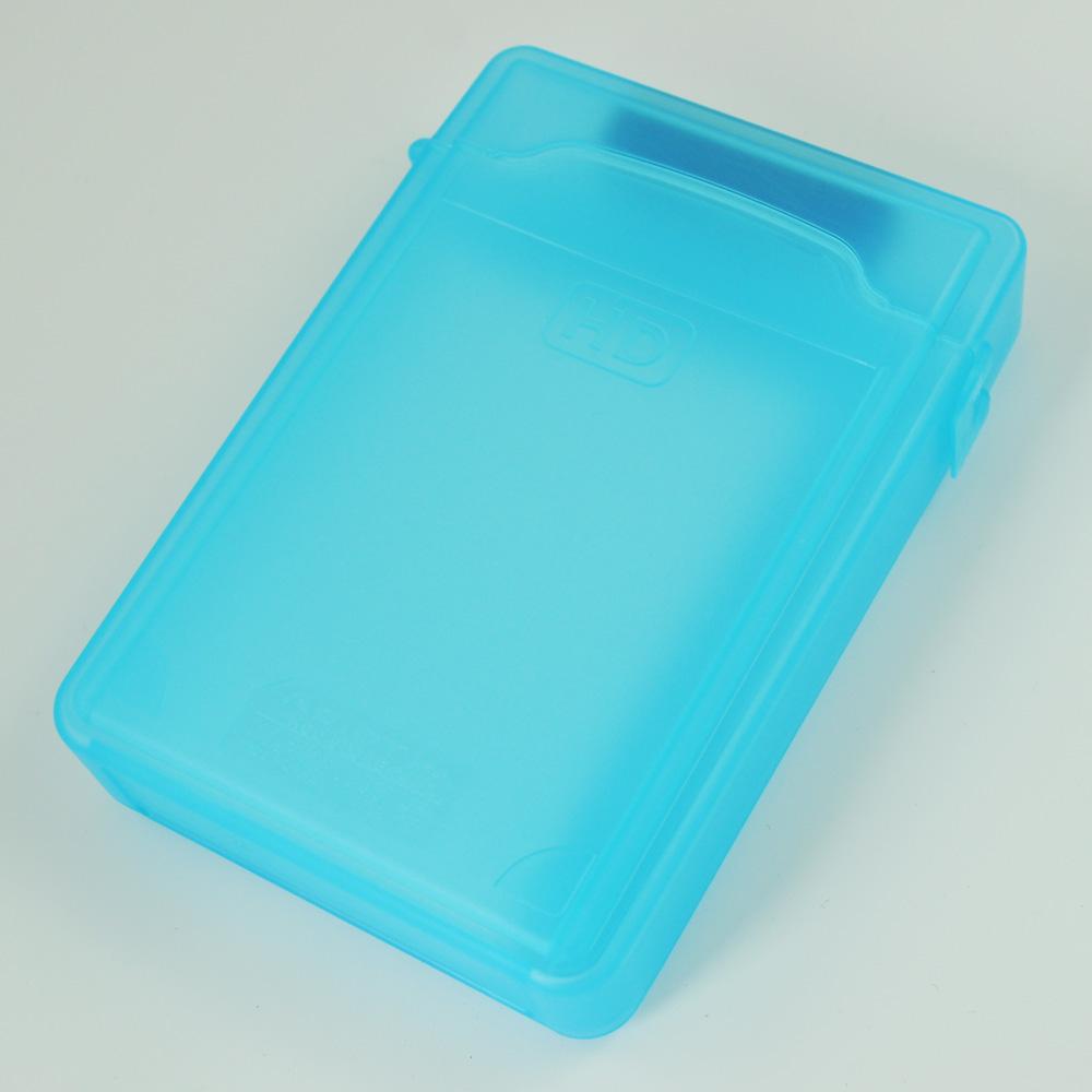YOC Hot Blue 3.5inch IDE SATA HDD Storage Box Case Enclosures HDD Polypropylene Boxs(China (Mainland))