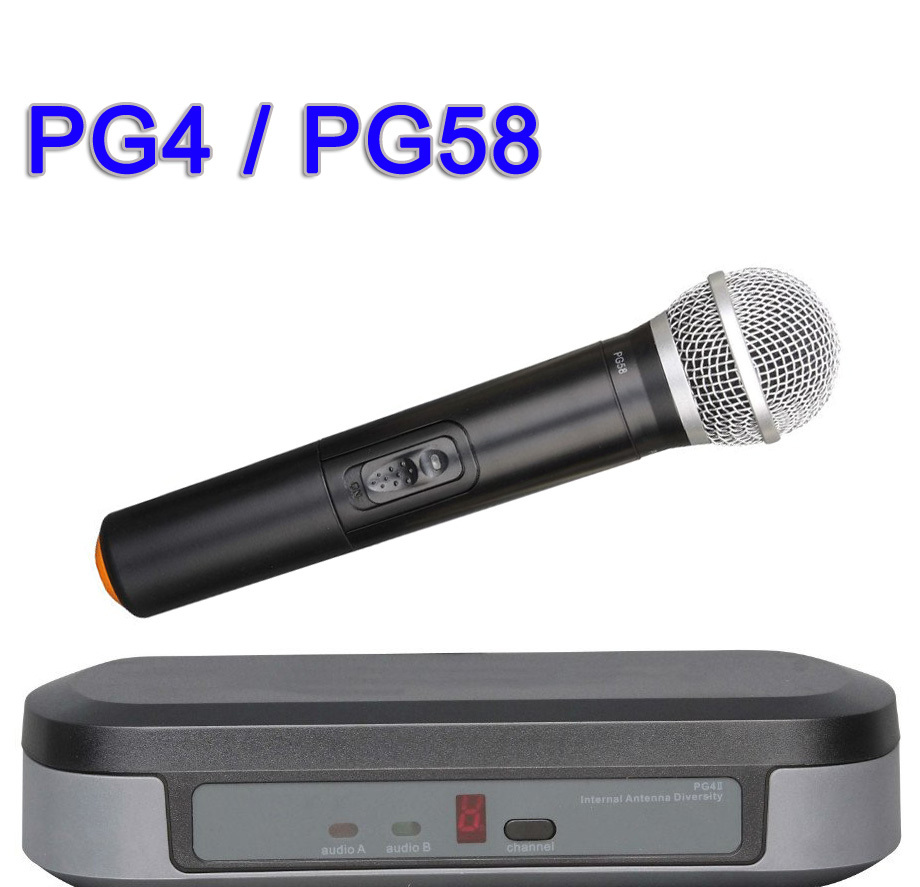 Wireless Microphone System PG4/PG58 Handheld Mic For Stage Performance Karaoke Concert Church Conference<br><br>Aliexpress