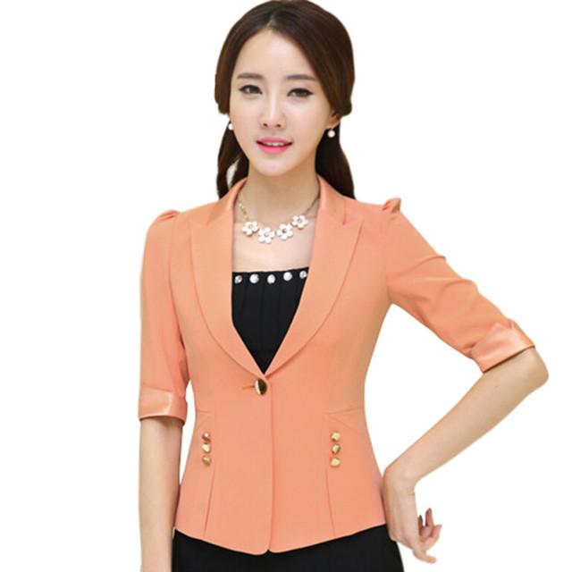 Летом конфеты цвет женский пиджак и куртка тонкий формальный офис тонкий Большой ...